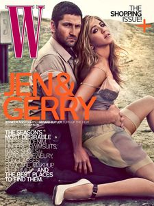Jennifer Aniston & Gerard Butler In 'W': Down & Dirty (gerard aniston