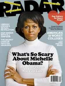 "Radar Asks, ""What's So Scary About Michelle Obama?"" On September Cover"