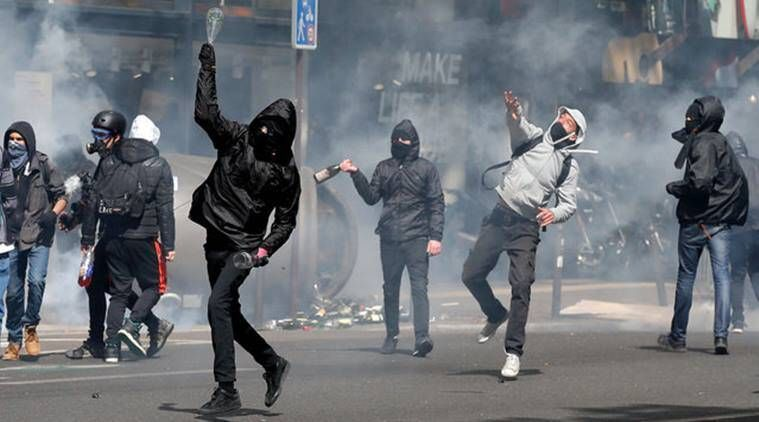 Paris: Students clash with police in anti-election demonstration