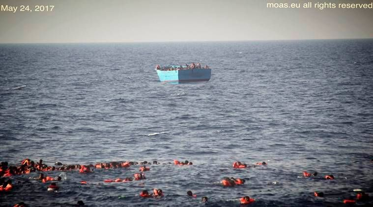 Migrants who clung to boat rescued off Libya, seven bodies found: officials