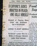 Al Capone Hitman SUICIDE Death Chicago Gangland Old Newspaper *