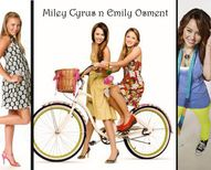 Miley Cyrus and Emily Osment miley emily