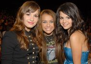 Miley, Selena, and Demi  mileycyrusandselenagomez Photo