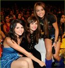 Miley, Selena, and Demi  Miley Cyrus & Selena Gomez Photo (7016570