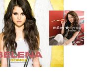 miley vs selena  Miley Cyrus vs  Selena Gomez Wallpaper (15385583