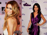 Miley Cyrus vs  Selena Gomez  Miley Cyrus Fan Art (19819843)  Fanpop
