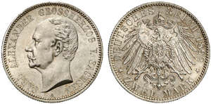 Saxe-Weimar-Eisenach 2 mark coin - Currency Wiki, the online