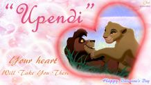 Kovu and Kiara Love HD Wallpaper Valentine  The Lion King 2:Simba's