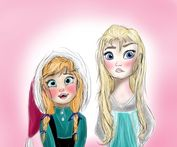 Young Anna and Elsa  Frozen Fan Art (34823295)  Fanpop