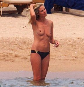 Heidi Klum goes topless on beach vacation (topless pic inside) | Im