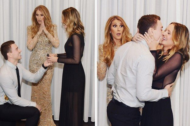 A Guy Proposed To His Girlfriend In Front Of Celine Dion And Her Face Was Priceless - BuzzFeed News
