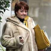 Furry Lady: Anne Diamond Looks Like A Giant Bear As She Leavesthe BBC
