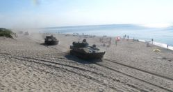 Watching Tanks Racing Through the Beach Is Surprisingly Fun (If You're