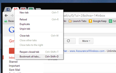 Save Sets of Multiple Tabs ...