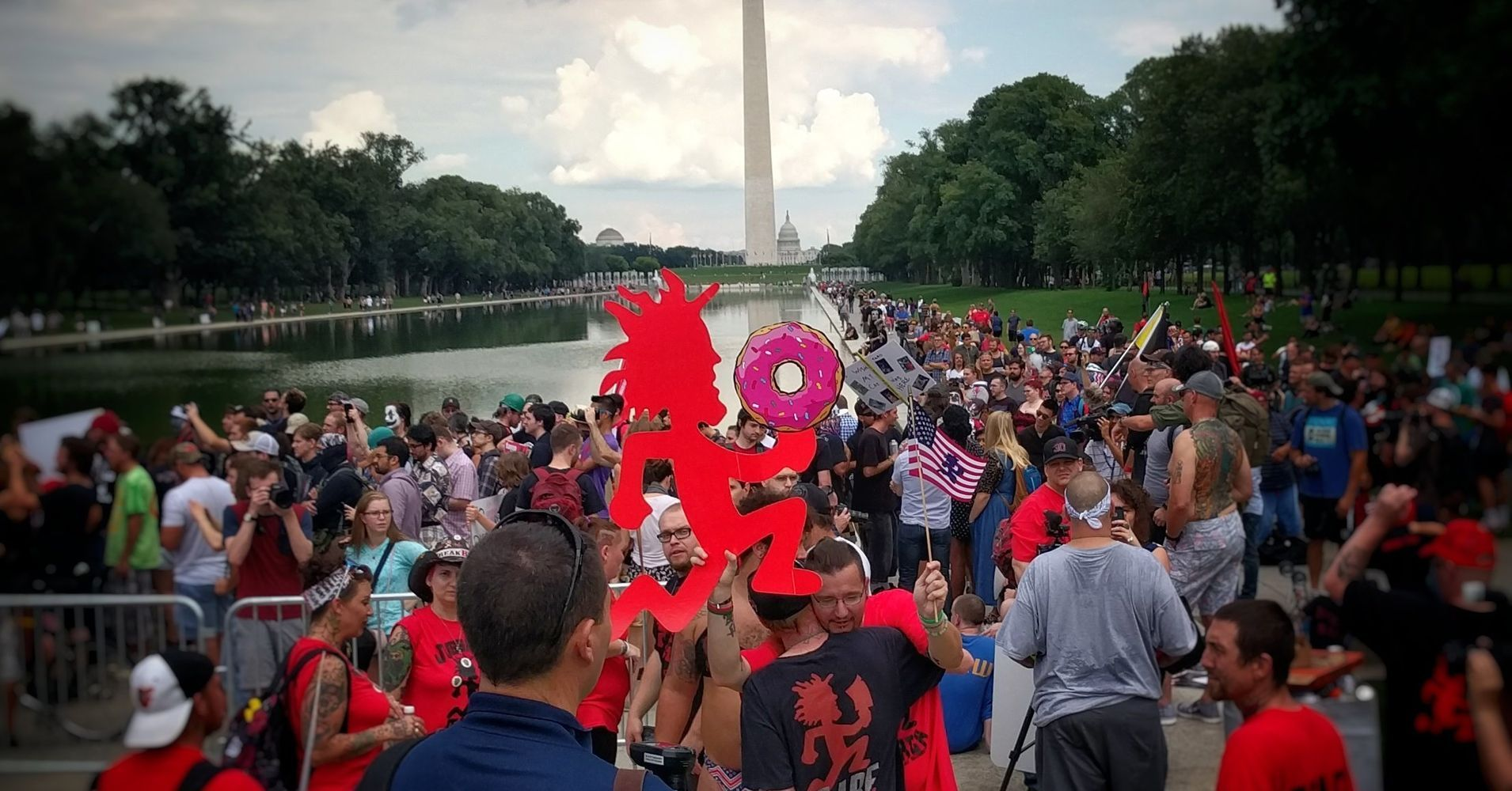 Juggalos Draw Bigger Crowd On The National Mall Than Pro-Trump Rally