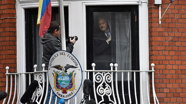 Assange speaks after Swedish prosecutors drop rape allegations (WATCH LIVE)