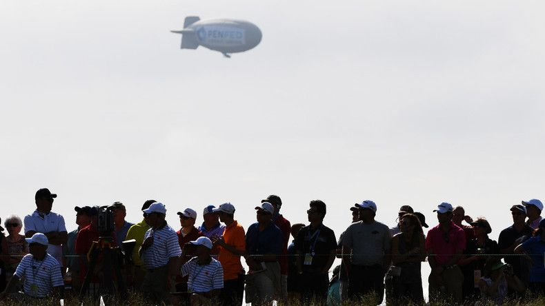 Blimp crashes at US Open, injuring pilot (PHOTOS, VIDEOS)