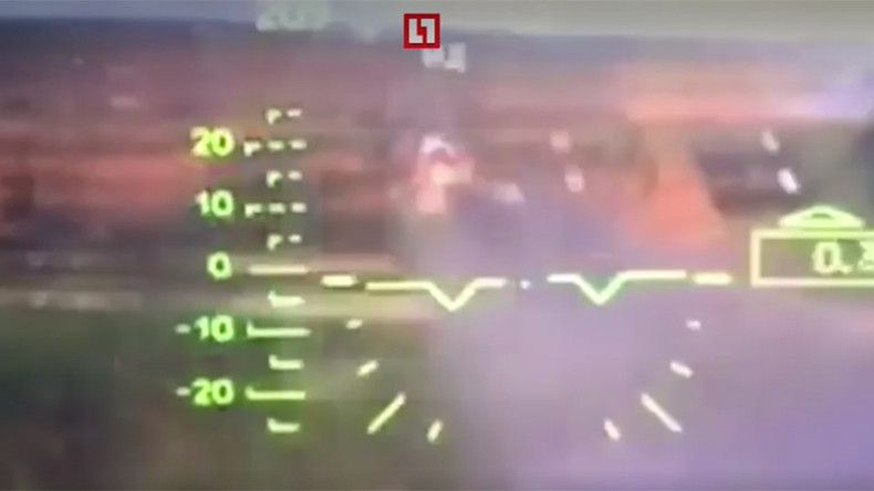 Target-cam: Russian Ka-52 attack helicopter misfires (COCKPIT VIDEO)
