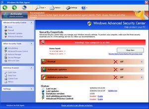Fake-Meldungen von Windows No-Risk Agent: