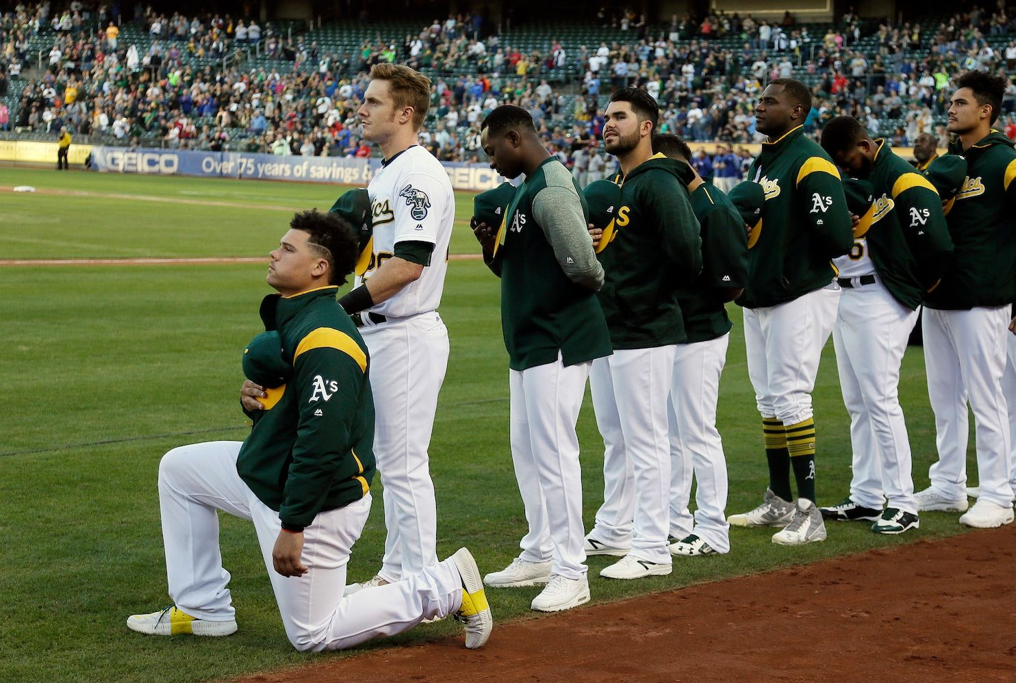 'To single out NFL players for doing this isn't something we should be doing': A's player takes up anthem protest - Washington Post