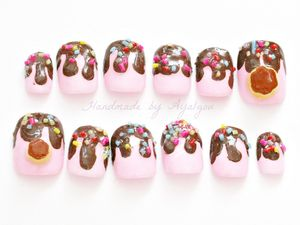 Kawaii nails, fairy kei, 3D nails, deco nails, lolita, pudding, flan