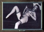 BETTIE PAGE EARLY NUDE PHOTO CASE WALLET HOLDS ID, BUSINESS CARDS