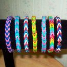 Loom Rubber Band Bracelet, Fishtail Design, MultiColor Bracelet