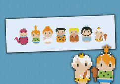 The Flintstones parody Cross stitch PDF pattern by cloudsfactory