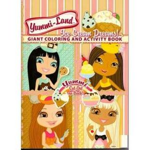 Yummi Land Giant Coloring and Activity Book ~ Ice Cream