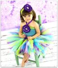 Ocean Dreams sewnTutu and matching headband set Fast shipping as seen