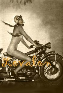 MATURE Vintage Nude Photo 193 0's Motorcycle Girl 4 x 6 inch