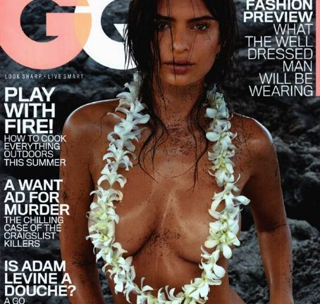 Emily Ratajkowski Poses Topless For Sexy Gq Magazine July Cover Gone Girl Star Pictures