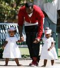 Sean 'Diddy' Combs and twin daughters play at park � Moms & Babies