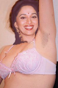 Madhuri Dixit Nude Showing her Boobs n Pussy in Open [Fake