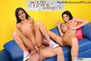 Sakshi Tanwar & Chahat Khanna Nude Enjoying Threesome Fucking [Fake