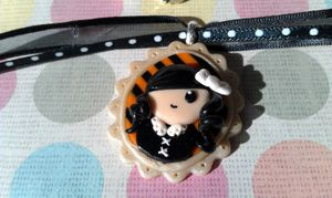 Kawaii Lolita Halloween 3D Necklace Goth by StarfallsAtDusk