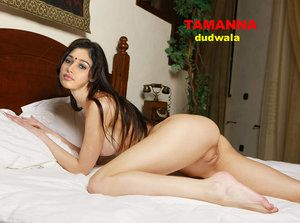 Tamanna Nude Showing her Boobs n Pussy on Bed [Fake] | Nude Bollywood