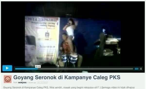 Video Goyang Hot Kampanye Caleg Pks