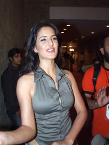 Katrina Kaif boob visible through button gap