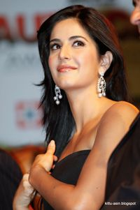 katrina kaif very hot gallery in black mini dress exposing cleavage