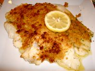 dinner was pretty fabulous, might I add�a massive, baked scrod