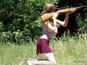 How to hold a gun, girls' way