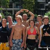 -dive Instructors: (from Back Row L-r) Andrew Westrope, Caitlin Hale