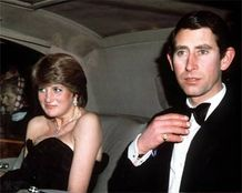 month after announcing their engagment, Lady Diana Spencer and