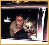 Dodi Al Fayed looks over Princess Diana�s shoulder just minutes