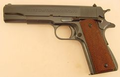 This is a great example of a 1939 Colt 45 National Match. The blue on