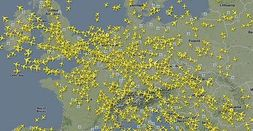 Flightradar24 shows live airplane traffic from different parts around