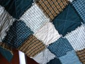 Big Daddy Large Cotton Rag Quilt Camping Dad by EthelandArtie, $75 00
