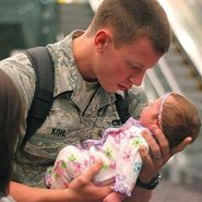 first time daddy sees his newborn  via  | A Picture Is Worth A Tho