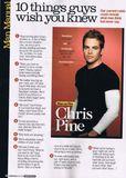 Chris Pine talks about encouragement
